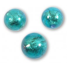 1 Murano Kingfisher Goldfoil 14mm Round Bead