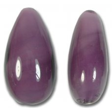 1 Murano Glass Aubergine Drop Bead
