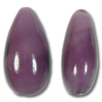 1 Murano Glass Aubergine Drop Bead