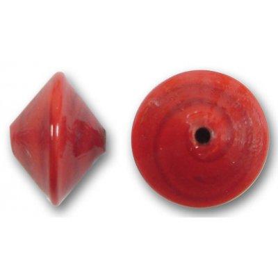 1 Murano Glass Ruby 14mm Bicone Bead