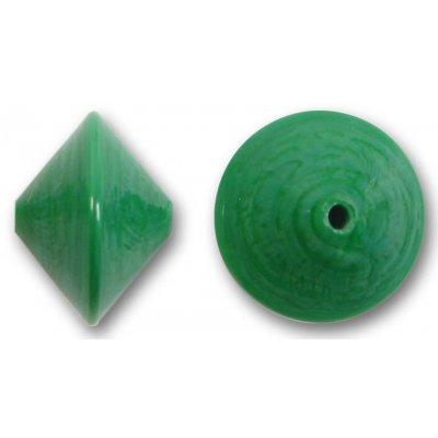 1 Murano Glass Turquoise Green 14mm Bicone Bead