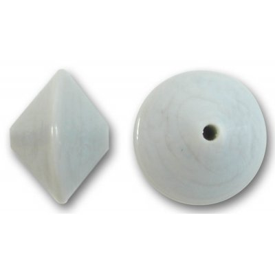 1 Murano Glass Light Grey 14mm Bicone Bead