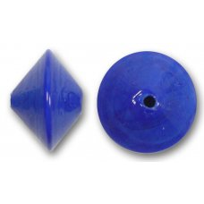 1 Murano Glass Cobalt 14mm Bicone Bead