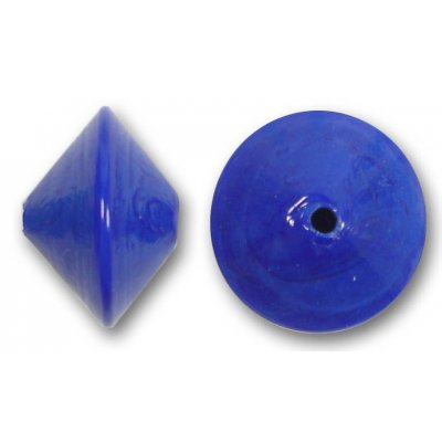 1 Murano Glass Cobalt 14mm Bicone Bead