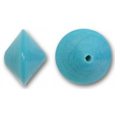 1 Murano Glass Aquamarine 14mm Bicone Bead