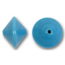 1 Murano Glass Turquoise 14mm Bicone Bead