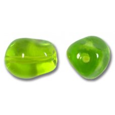 1 Murano Glass Transparent Lime Nugget Bead
