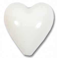 1 Murano Glass White 20mm Heart Bead