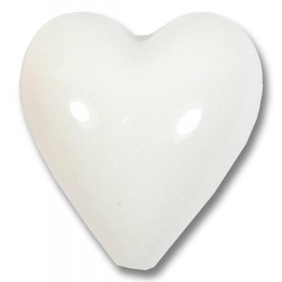 1 Murano Glass White 20mm Heart Bead