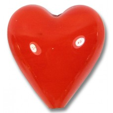 1 Murano Glass Satsuma Orange 20mm Heart