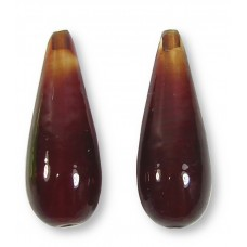 1 Murano Glass Opaque Ember Red Large Drop