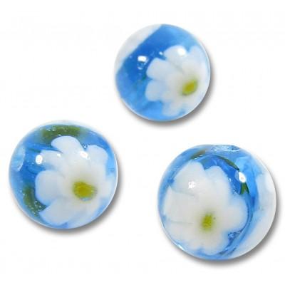 10 Murano Glass Aquamarine Millefiore 8mm Beads