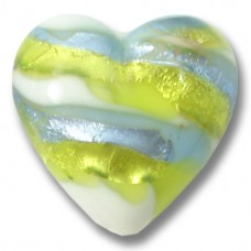 1 Murano Glass Sea Jewel 18mm Heart