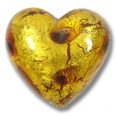 1 Murano Glass Wildcat 20mm Heart Bead