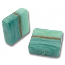 1 Murano Glass Mint Aquamarine Aventurine Spangle Bead