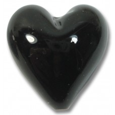 1 Black 20mm Murano Glass Heart