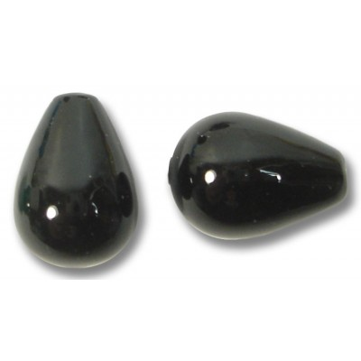 1 Murano Glass Black Drop
