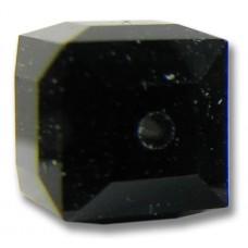 10 Swarovski Crystal 5601 4mm Jet Black Cube Beads