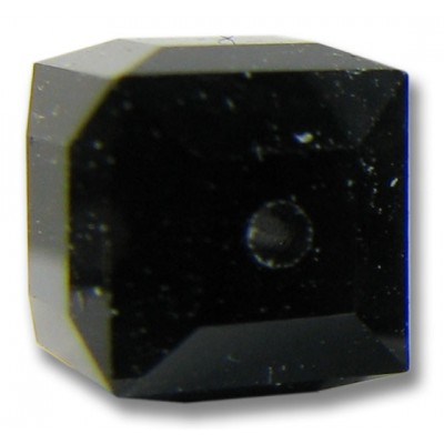 10 Swarovski Crystal Jet Black 6mm Cube Beads