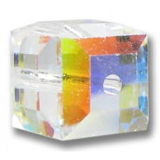 10 Swarovski Crystal AB Cube 6mm Beads Article 5601