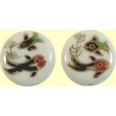 2 Painted Ceramic Fish Beads