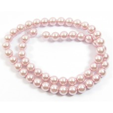 1 Strand 8mm Glass Pearls Rose