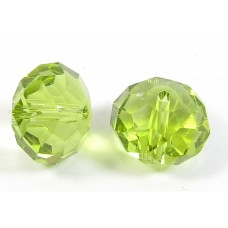 1 Crystal Olivine 12mm Rondelle Bead