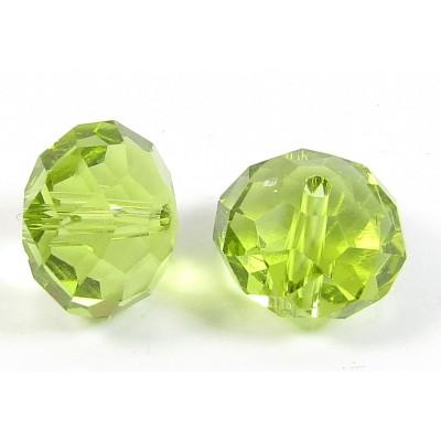 1 Crystal Olivine 12mm Rondelle Bead