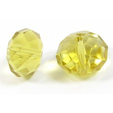 1 Crystal Dark Citrine 12mm Rondelle Bead