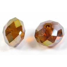 1 Crystal Copper AB 12mm Rondelle bead