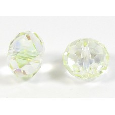 1 Crystal Limoncello AB 12mm Rondelle Bead