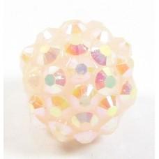 1 Plastic Shamballa Style Bead Light Pink