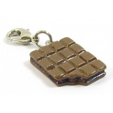 1 Resin Clip On Charm Chocolate Bar
