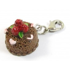 1 Resin Clip On Charm Chocolate Cake
