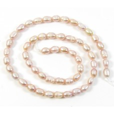 1 Strand Peach 6mm Pearls