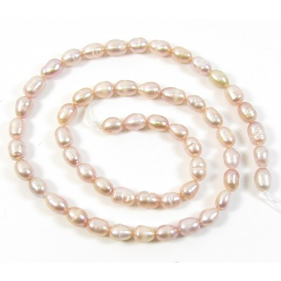 1 Strand Peach 6mm Pearls