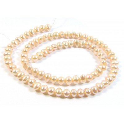 1 Strand Peach Small Potato Freshwater Pearls