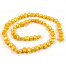 1 Strand Sweetcorn Yellow Baroque Freshwater Pearls