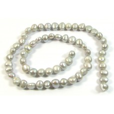 1 Strand Peacock Silvery Grey Freshwater Pearls