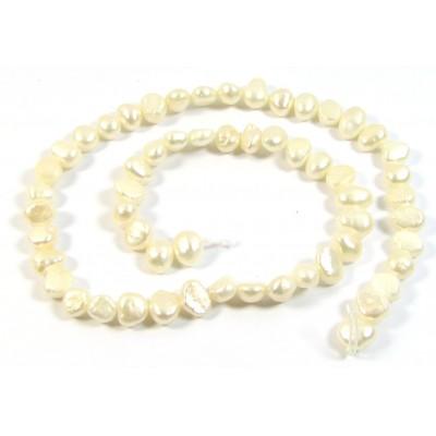 1 Strand Creamy White Irregular Freshwater Pearls