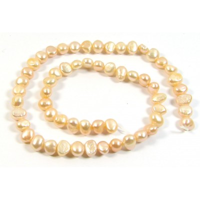 1 Strand Soft Peach Irregular Freshwater Pearls