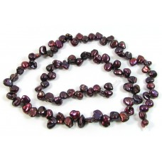 1 Strand Cranberry Keishi Freshwater Pearls