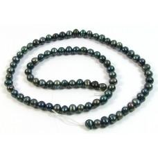 1 Strand Dark Grey Freshwater Pearls