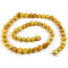 1 Strand Autumn Leaf Potato Shape Freshwater Pearls