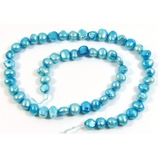 1 Strand Turquoise Freshwater Pearls
