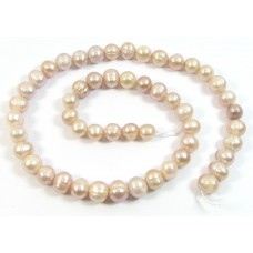 1 Strand Pink Lilac Potato Shape Freshwater Pearls Approx. 7mm.