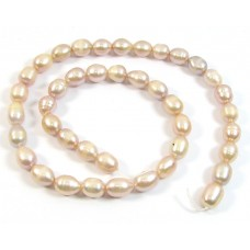 1 Strand Pale Pink Freshwater Pearls Rice Shape Approx. 8mm.
