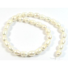 1 Strand Off White Rice Shape Freshwater Pearls approx 10mm