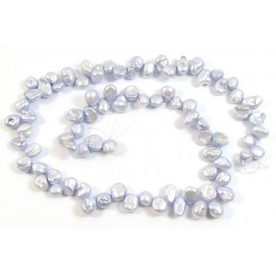 1 Strand Grey Lilac Keishi Cornflake Freshwater Pearls