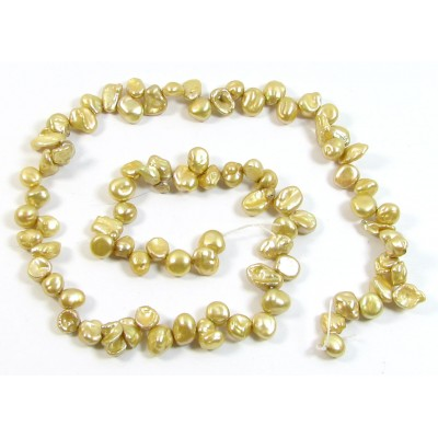 1 Strand Wheat Pale Gold Keishi Cornflake Freshwater Pearls
